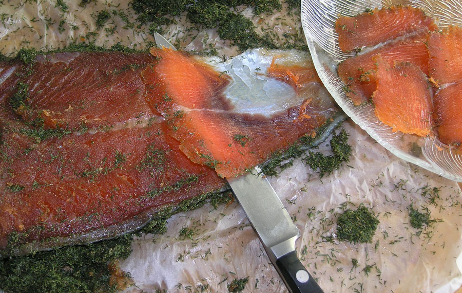 Norweski marynowany łosoś