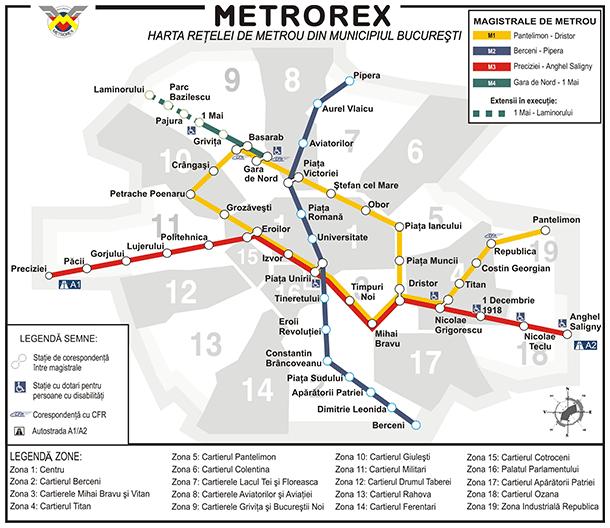 Plan metro w Bukareszcie