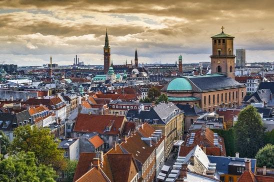 Widok z okrągłej wieży w Kopenhadze