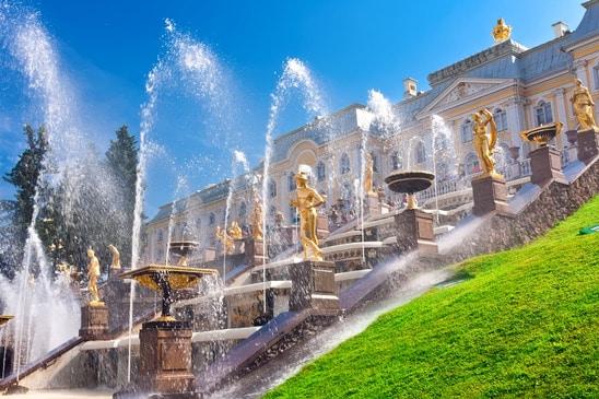 Peterhof Sankt Petersburg - fontanny
