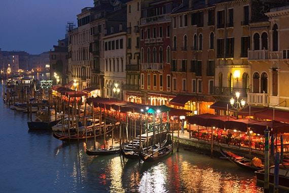 Grand Canal nocą - Wenecja