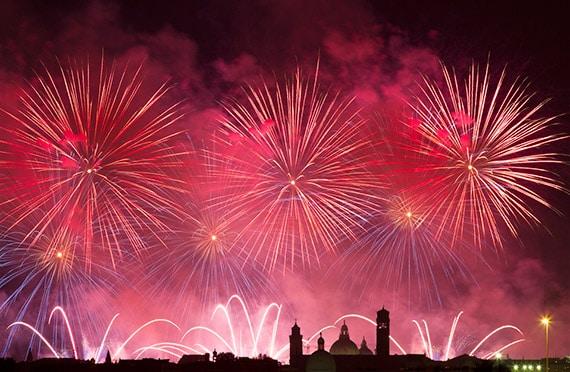 Festa del Redentore w Wenecji - sztuczne ognie